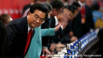 Olympische Sommerspiele 2008 Hu Jintao