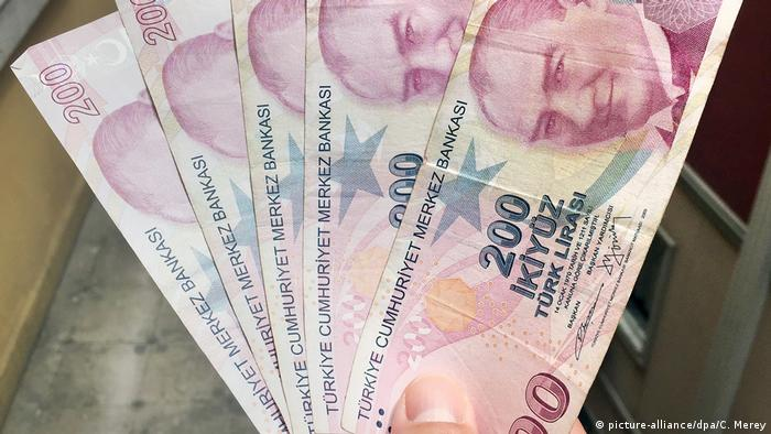 Türkei, Symbolfoto: Währung Türkische Lira (picture-alliance/dpa/C. Merey)