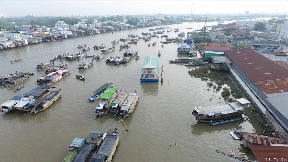 湄公河是地球上最肥沃的河流之一,也是亞洲最重要的跨國水系。圖為湄公河越南段。