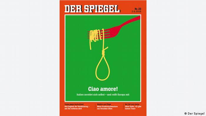 Spiegel magazine cover Italy