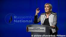 Frankreich, Paris: Marine Le Pen verkündet die Namensänderung des Front National in Rassemblement National