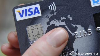 Foto einer Visa Card