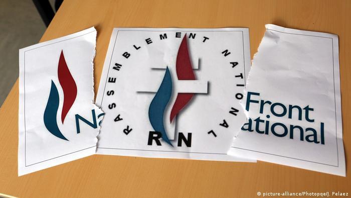 Frankreich Umbenennung Front Natinal -> Rassemblement National Logo