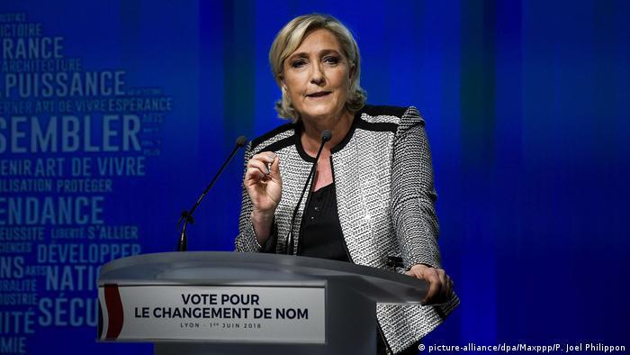 Marine Le Pen Rassemblement National (picture-alliance/dpa/Maxppp/P. Joel Philippon)