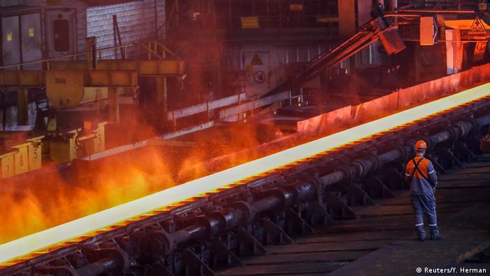 Steel factory ArcelorMittal in Belgium (Reuters/Y. Herman)