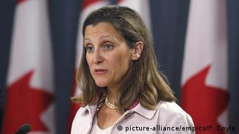 Chrystia Freeland Außenministerin Kanada (picture-alliance/empics/P. Doyle)