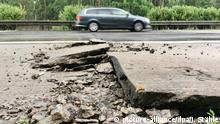 Hitze beschädigt Betonplatten auf der Autobahn A10