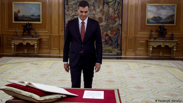 Pedro Sanchez Vereidigung (Reuters/E. Naranjo)