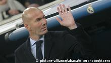 Real Madrid Trainer Zinedine Zidane