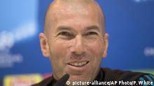 Real Madrid Trainer Zinedine Zidane