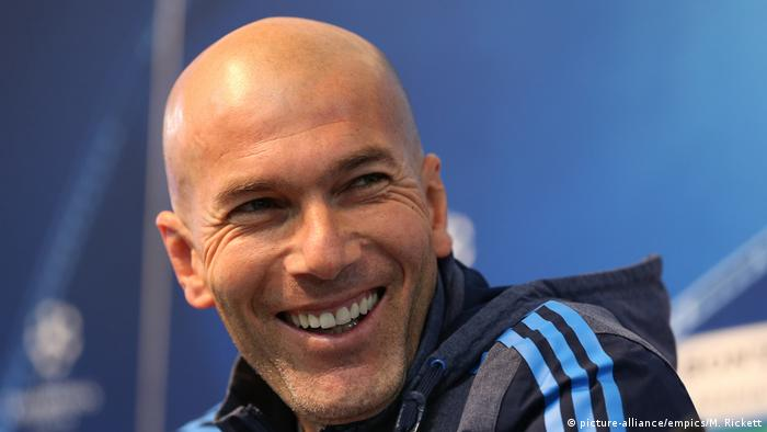 Real Madrid Trainer Zinedine Zidane (picture-alliance/empics/M. Rickett)