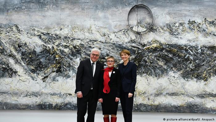 Bundespräsident Steinmeier besucht Kunsthalle Mannheim