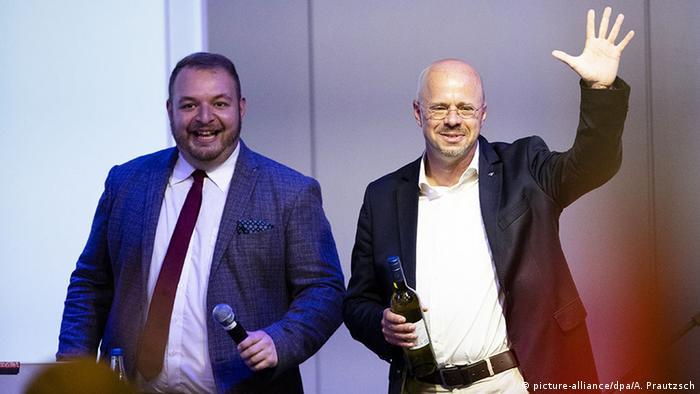 Deutschland | Bundeskongress der Jungen Alternative (JA) für Deutschland | Andreas Kalbitz und Damian Lohr