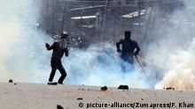 Protesters clash with police in Srinagar, Kashmir