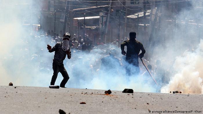 Indien Proteste in der Kaschmir-Region