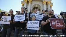 Ukraine #freesentsov Demonstration in Kiew