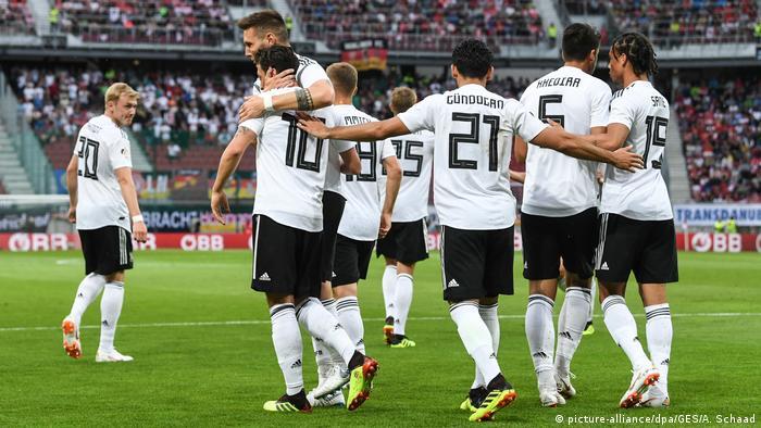 Fußball Länderspiel Deutschland - Österreich