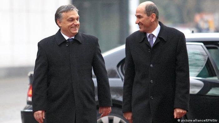 Janez Janša (r) und Viktor Orban verstehen sich gut