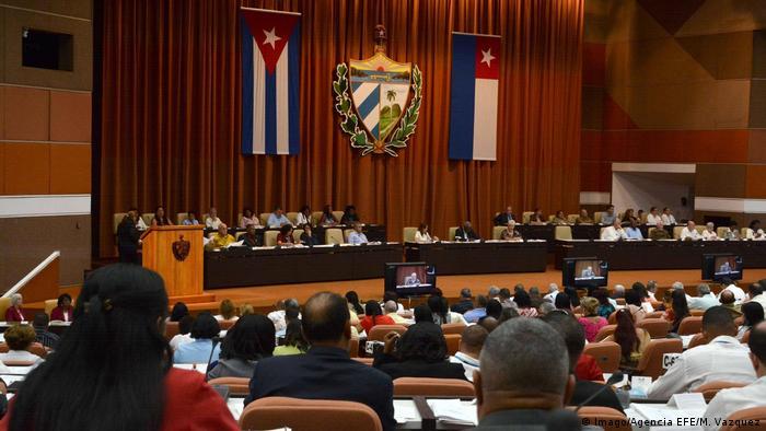 Kuba Havanna Parlamentssitzung zur Verfassungsreform