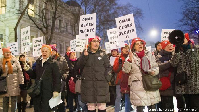 Angažirane bakice na prosvjedu u Beču u siječnju ove godine