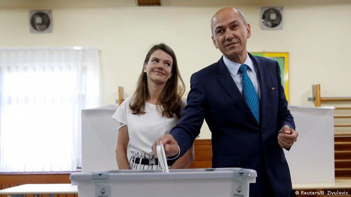 Янез Янша с женой
