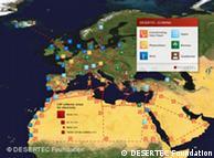 El área del cuadrado rojo más grande sería suficiente para producir la energía que necesita el planeta