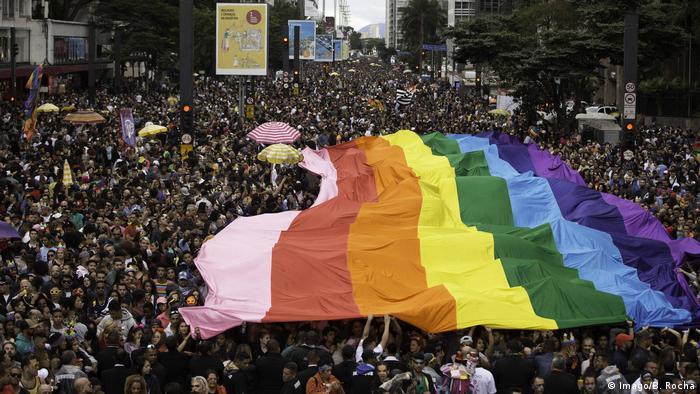 Brasilien LGBT Pride Parade in Sao Paulo (Imago/B. Rocha)