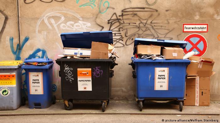 Мусорные баки для бумажных отходов
