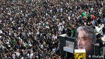 تظاهرات گسترده معترضان پس از انتخابات در تهران