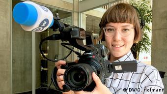 DW Sendung MADE Reporterin Kiyo (DW/G. Hofmann)