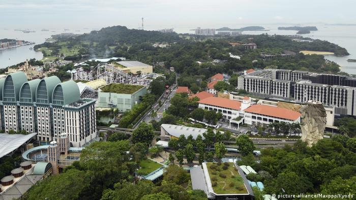 Singapur Insel Sentosa (picture-alliance/Maxppp/Kyodo)