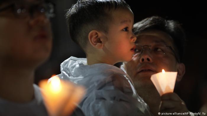 Hong Kong Tiananmen Jahrestag (picture-alliance/AP Photo/V. Yu)