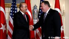 USA Mevlut Cavusoglu, Außenminister Türkei & Mike Pompeo in Washington