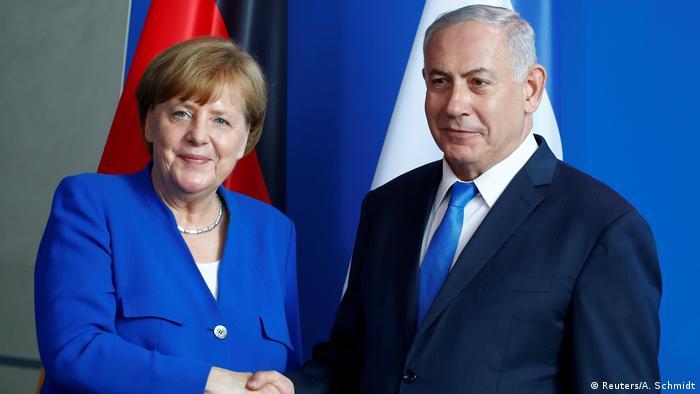 Almanya Başbakanı Merkel ve İsrail Başbakanı Netanyahu (Foto: Arşiv)