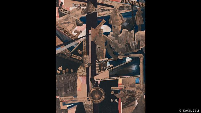 photomontage with images of war and politicians ( DACS, 2018)
