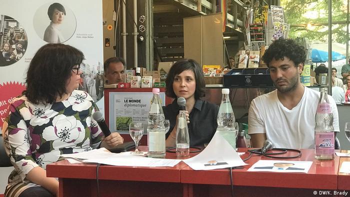 Ebru Tasdemir (Taz), Özlem Topcu (Die Zeit), and Cihan Sinanoglu (Turkish Communites in Germany)