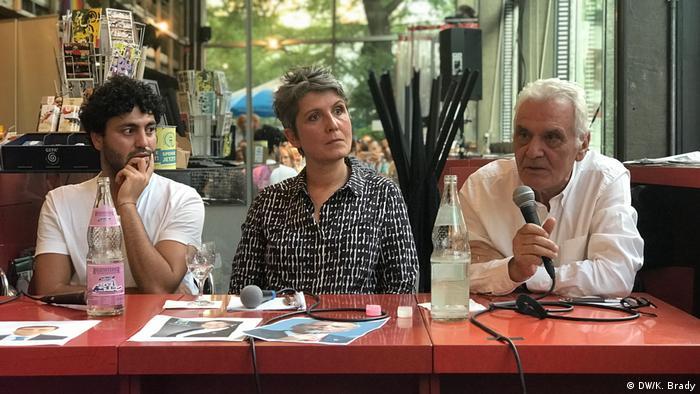 Cihan Sinanoglu (Turkish Communites in Germany), Ines Pohl (DW Editor-in-Chief) and Ahmet Külahcı (Hurriyet)