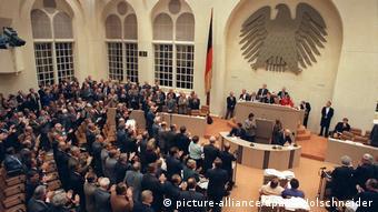 Η ψηφοφορία για την γερμανική επανένωση στις 20 Σεπτεμβρίου 1990 στη Βόννη