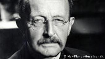 Max Planck in a black and white portrait