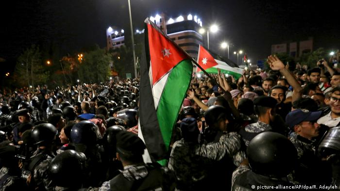 Proteste in Jordanien (picture-alliance/AP/dpa/R. Adayleh)