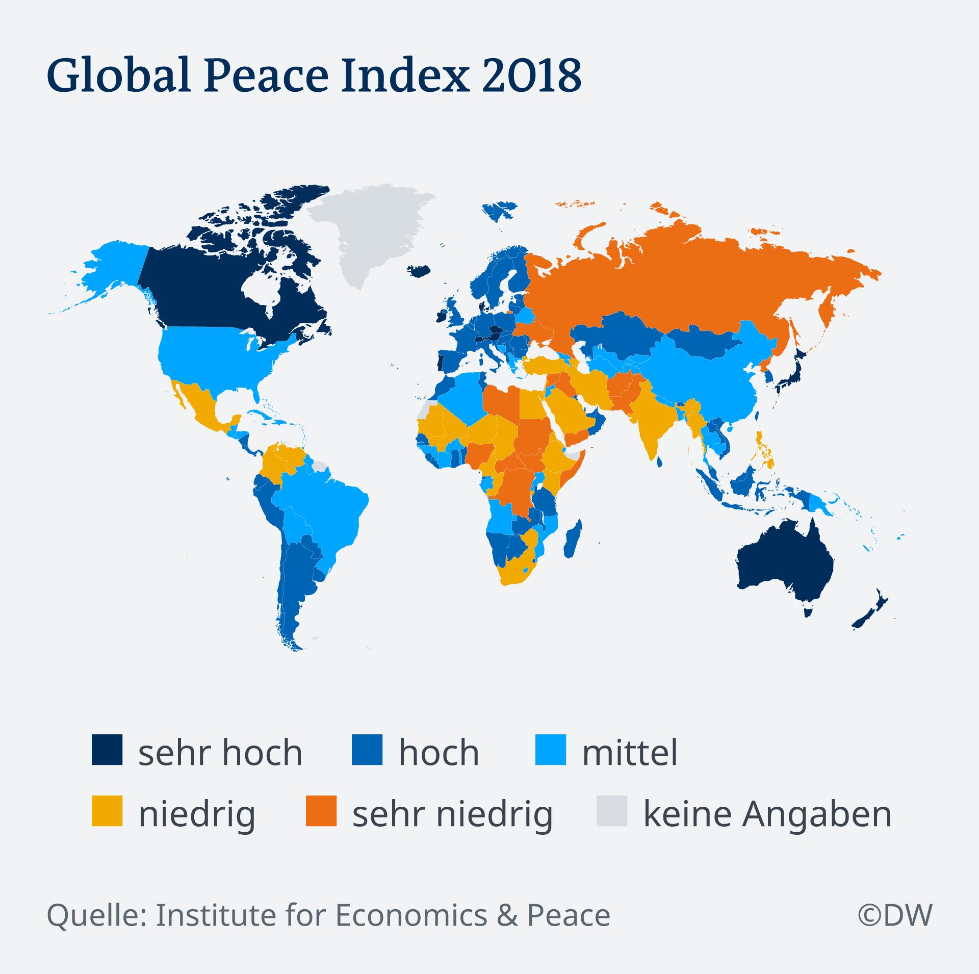 Infografik Global Peace Index 2018 DE