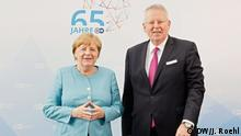 Bundeskanzlerin Angela Merkel und DW-Intendant Peter Limbourg beim Festakt 65 Jahre DW