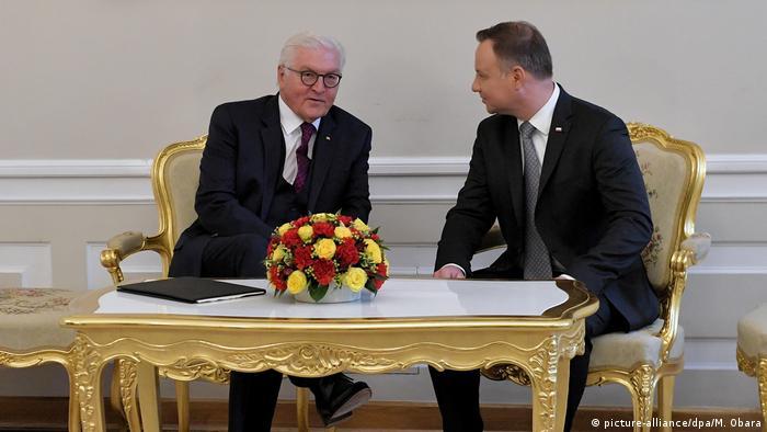 Prezydenci Niemiec i Polski podczas spotkania w Warszawie w czerwcu 2018 r.