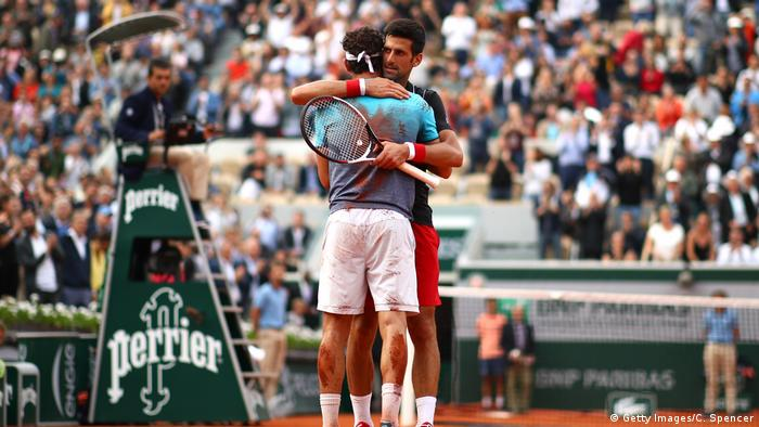 2018 French Open Novak Djokovic Cecchinato (Getty Images/C. Spencer)