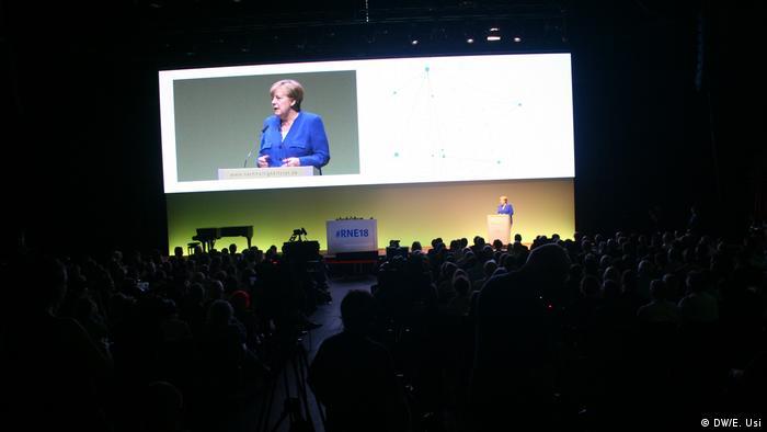 Merkel durante el congreso anual del Consejo para el Desarrollo Sostenible.