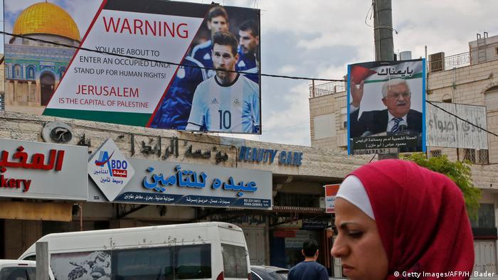 Westjordanland Hebron | Boykott-Aufruf Fußballspiel Argentinien vs. Israel (Getty Images/AFP/H. Bader)