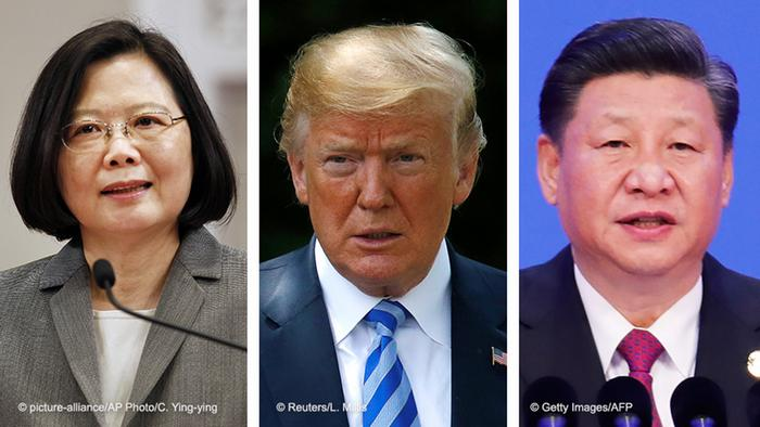 Präsidenten Tsai Ing-wen, Taiwan & Donald Trump, USA & Xi Jinping, China