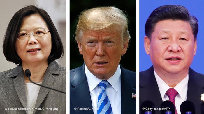 Präsidenten Tsai Ing-wen, Taiwan & Donald Trump, USA and Xi Jinping, China
