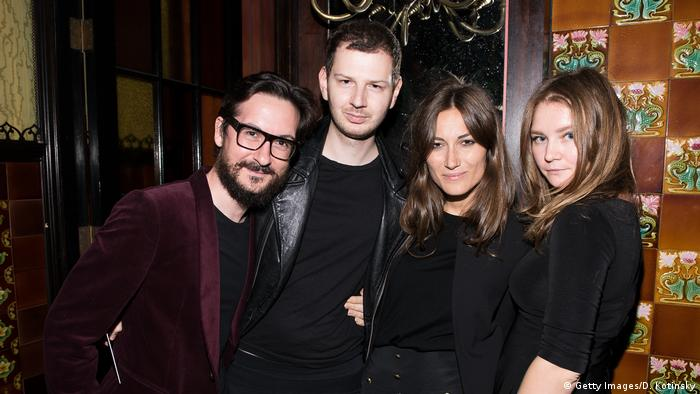 (L-R) Giudo Cacciatori, Gro Curtis, Giorgia Tordini, and Anna Delvey attend the first Tumblr Fashion Honor presented to Rodarte at The Jane Hotel