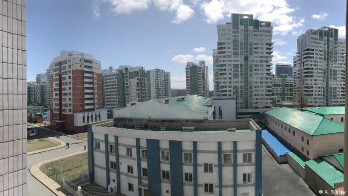 Blick aus dem Wohnheim auf Pjöngjang (A. Sigley)